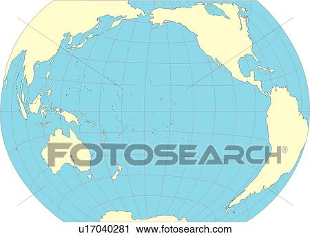 Clipart Of Illustration Equatorial Line World Map Globe Map - Globe map with countries