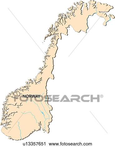 Clipart Of Map Sea Illustration Globe Countries Norway World - Norway map clipart