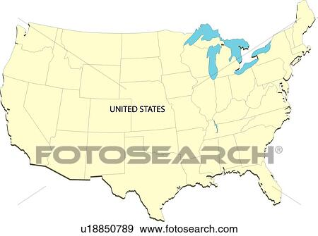 Stock Illustration Of Equatorial Line Globe USA Map America - Globe of usa