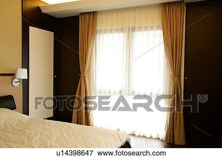 Image chambre coucher lits fen tre chambres coucher - Rideau chambre a coucher ...