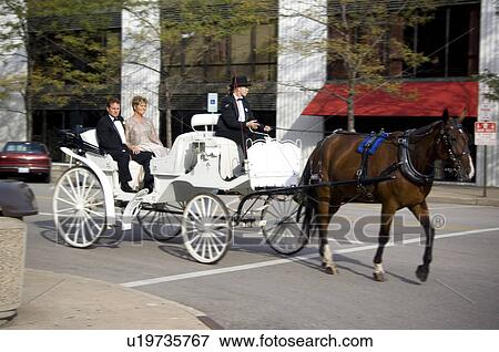 Picture of Couple on horse drawn carriage ride u19735767 - Search Stock Photography, Photos ...