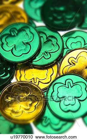 Archivio fotografico giorno patricks st monete - Immagini st patrick a colori ...