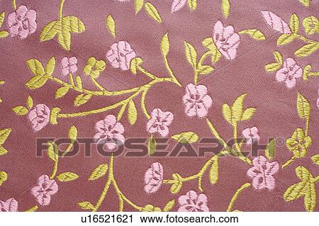 stock photography of printed silk