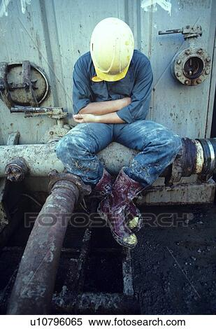 Gas Usage Calculator >> Stock Image of Oilfield Worker Napping u10796065 - Search Stock Photos, Mural Pictures ...