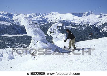 Stock Photograph of Mount Washington ski resort, Vancouver Island ...