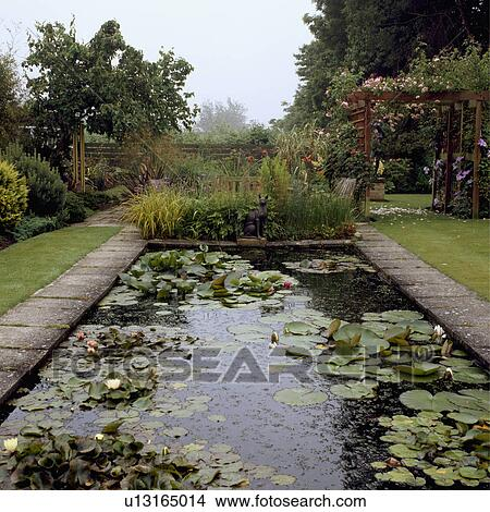 Stock Photo Of Rectangular Pond In Formal Garden In Summer U13165014 Search Stock Images