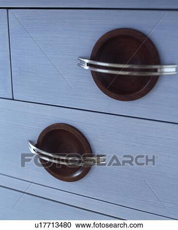 Stockfotografering   close up, i, metal, håndterer, på hvide ...