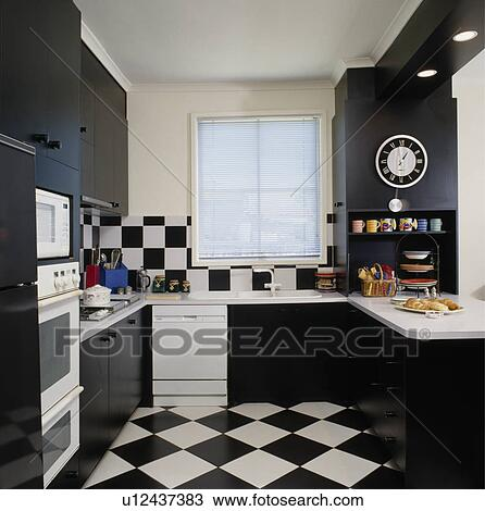 Stock Photo Of Black White Chequerboard Floor And Wall