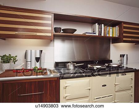 Banque de photo noix et rable placage ajust for Placage armoire cuisine