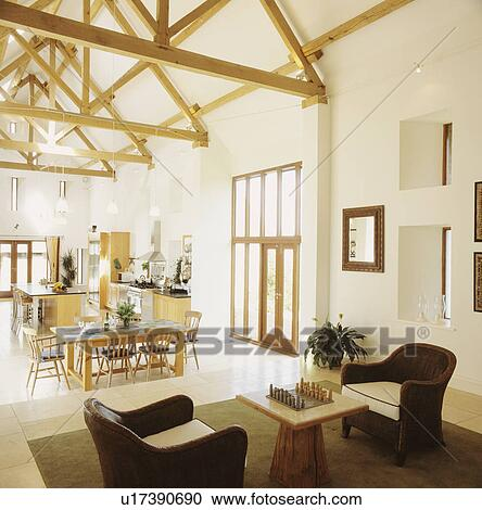 Stock Photography Of Openplan Modern Barn Conversion