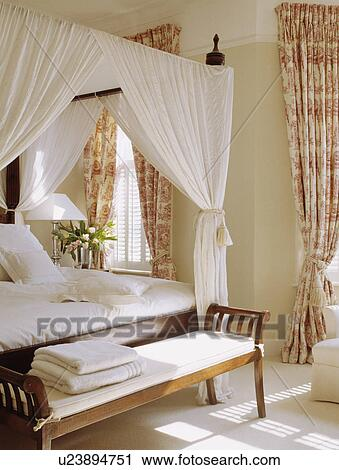 banques de photographies toile de jouy rideaux dans. Black Bedroom Furniture Sets. Home Design Ideas