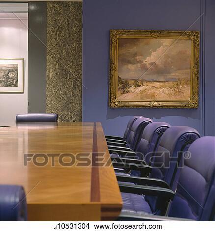 Archivio fotografico dipinto olio su parete in for Tavola da pranzo in legno