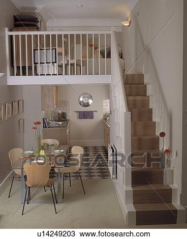 Stock Photo Of Small Living Area On Mezzanine Above
