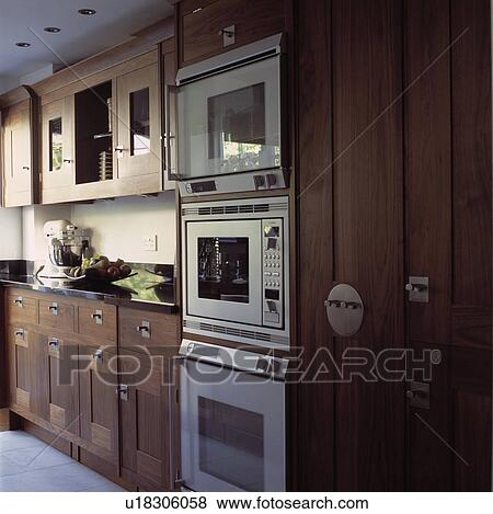 Pictures Of Double Oven And Microwave In Fitted Wood