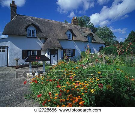 Stock afbeeldingen engeland dorset bovenleer bockhampton een huisje met mooi en - Huisje met vide ...