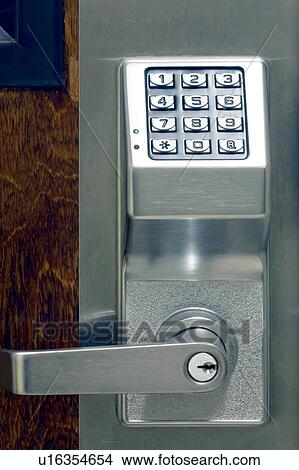Stock Photo Of Numeric Keypad Entry System Door Lock Security