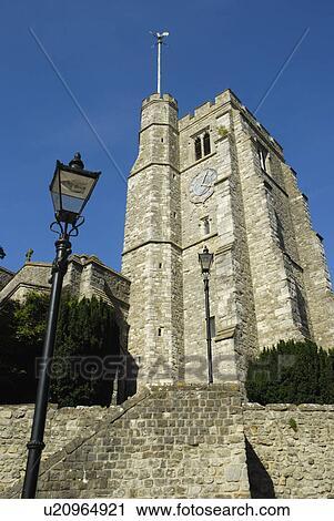 Turmuhr clipart  Stock Fotografie - england, kent, maidstone, sehen aufwärts, alles ...