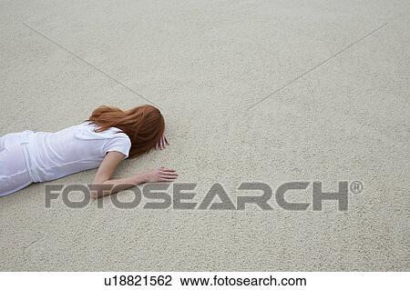 naked girls lying face down