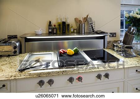 Stock Fotografie - nahaufnahme, von, japanische, teppenyaki, grill ...