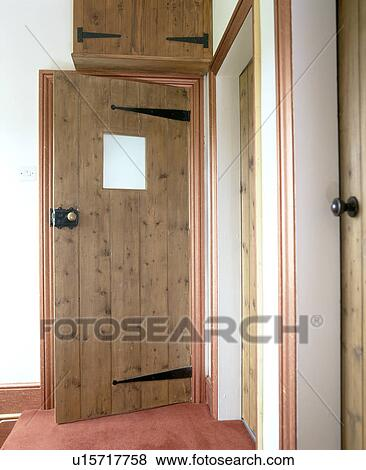 Pictures Of Pine Front Door With Small Glass Panel In Traditional