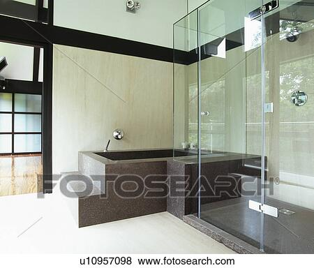 Bilder schwarz granit bad in modernes badezimmer for Granit dusche