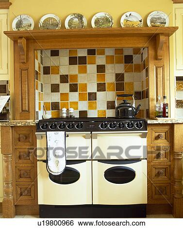 Stock Images Of Ceramic Tiles On Wall Above Range Cream