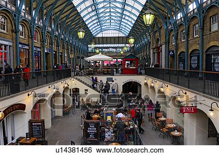 Stock Images of England, London, Covent Garden. Shops and ...