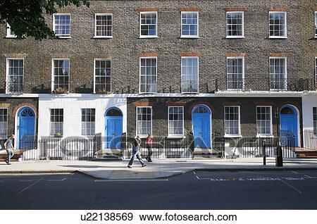 England London Bloomsbury Classic Georgian Architecture On Bernard Street In