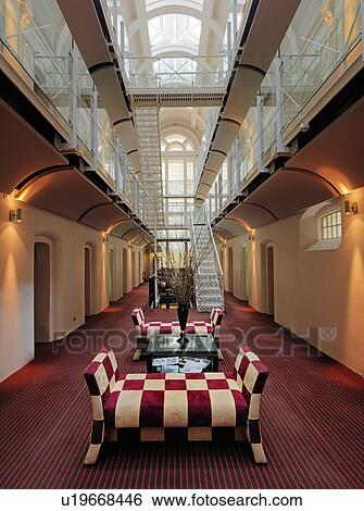 Stock images of england oxfordshire oxford inside the for Prison converted to hotel