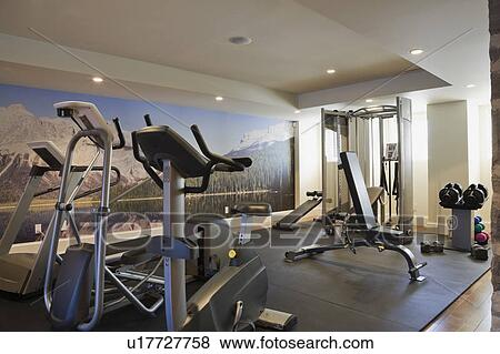 Pictures Of Basement Exercise Room With Fitness Equipment