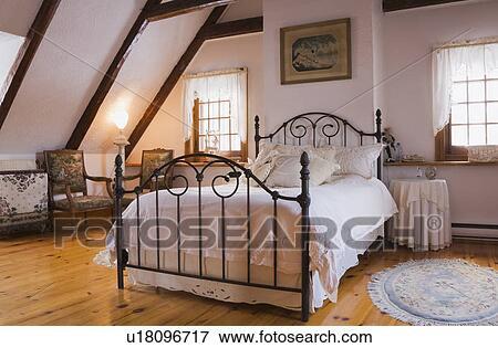 bild bett und einrichtung in dass meister schalfzimmer auf dass oben boden von a. Black Bedroom Furniture Sets. Home Design Ideas