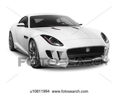 banque de photo 2012 jaguar c x16 concept voiture sport isol blanc fond u10811994. Black Bedroom Furniture Sets. Home Design Ideas