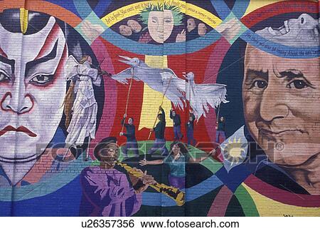 Stock images of wall mural atlanta l5p georgia mural for Atlanta mural artist
