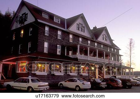 Stock Photograph Of Lodging Adirondacks Hotel Inn New York
