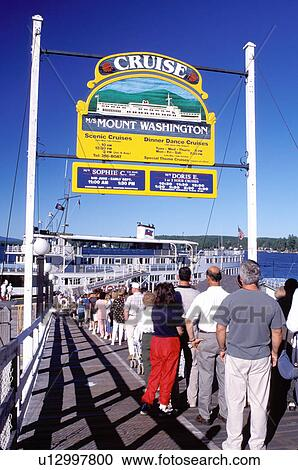 Stock Photography of cruise, New Hampshire, Weirs Beach, NH ...