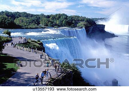 Stock Photo of Niagara Falls, NY, waterfalls, New York, American ...