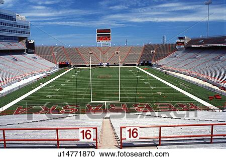 Stock Photography   Football Stadium, University, College, Lincoln, NE,  Nebraska, Part 97