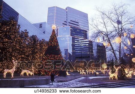 Stock Photo of Richmond, VA, Virginia, Christmas decorations at ...