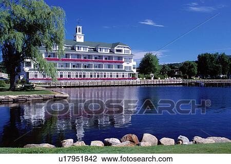 Stock Photo Resort New Hampshire Inn Lodge Hotel Meredith
