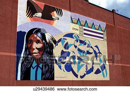 Stock Image   Wall Mural, Native American, Salamanca, NY, New York, Part 92