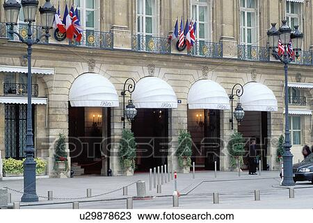 Stock Photo Of The Ritz Paris Hotel France Europe The