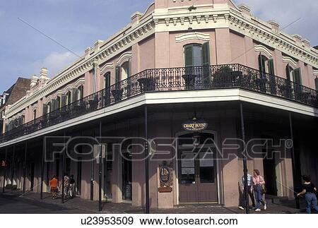 Stock photograph of french quarter new orleans la louisiana
