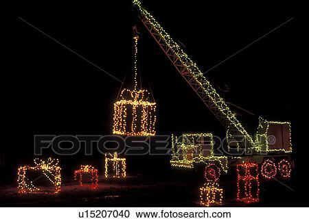 Christmas Lights On Stone Wall : Stock Photography of Christmas decorations, Stone Mountain, GA, Georgia, Christmas lights ...