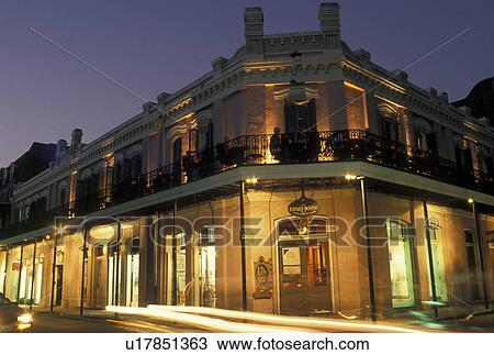 Stock photo of french quarter restaurant new orleans la