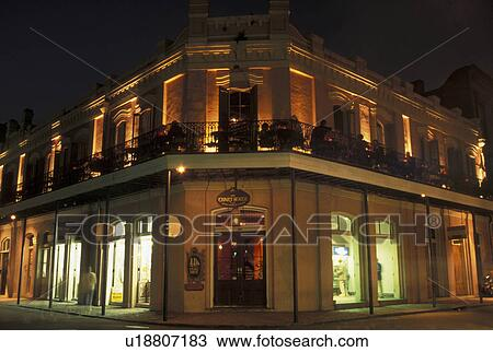 Stock photo of new orleans french quarter la louisiana the