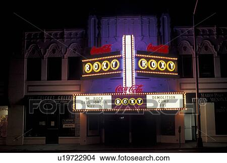 Stock Photo of marquee, Atlanta, Roxy Theater, GA, Georgia ...