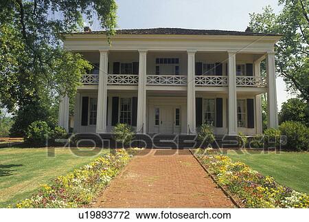 Stock Photo Of Mansion Birmingham Al Alabama Arlington Antebellum Home And Gardens In