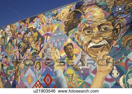 Stock images of wall mural african american atlanta ga for African american mural