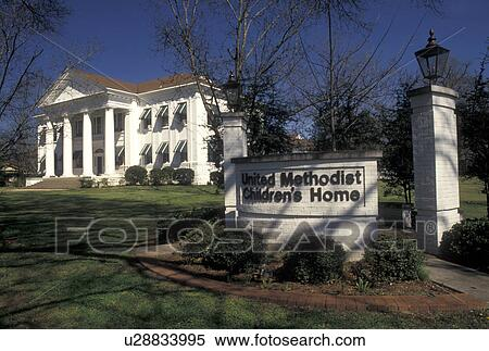 Stock Image of Selma, Alabama, AL, United Methodist ...