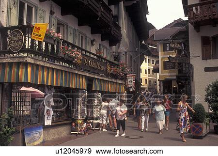 Stock photograph of austria st wolfgang salzkammergut stock photograph austria st wolfgang salzkammergut oberosterreich shops in the sciox Images